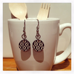 Laser Cut Wooden Drop Earrings